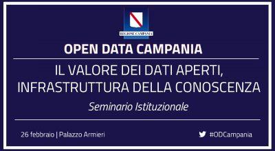 """Seminario """"Il valore dei dati aperti, infrastruttura della conoscenza"""""""