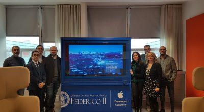 I vincitori del contest Rappresenta il dataset! in visita al Polo tecnologico di San Giovanni a Teduccio